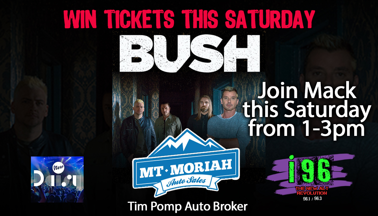 Win Bush Tickets At Mt Moriah Auto Sales